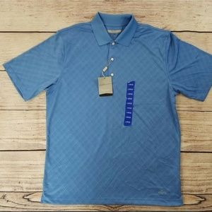 New Greg Norman Play Dry Blue Golf Polo